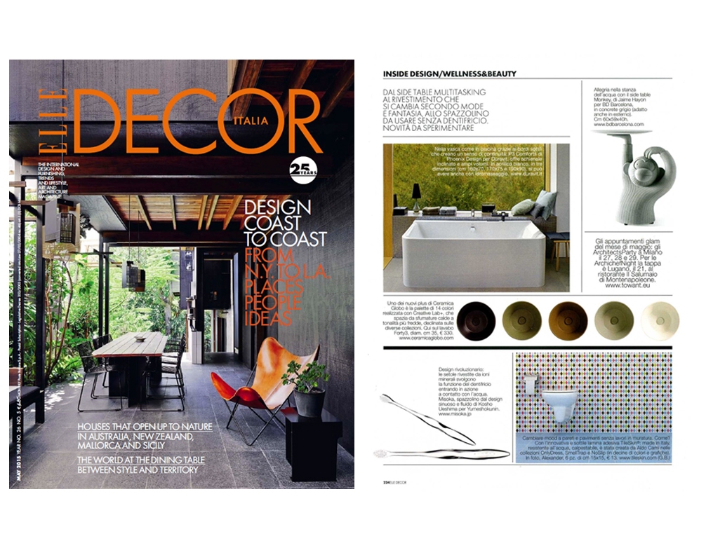 MISOKA・ISM on ELLE DECOR - issue MAY 2015 -